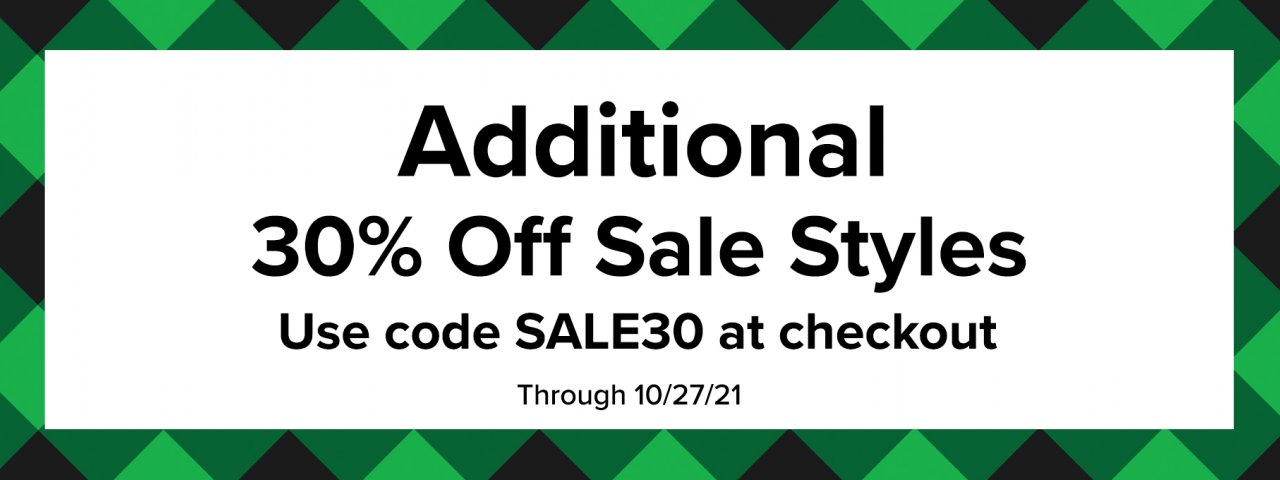 Shop an additional 30% off Sale styles