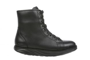 Women's Boston Black Mid Cut Boots 700990-03N Main