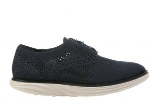 Women's Boston Wing Tip Knit Navy Oxfords 700972-12H Main
