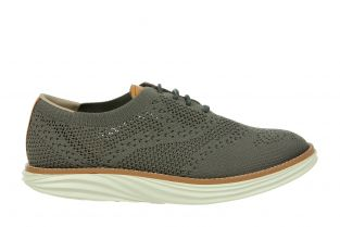 Women's Boston Wing Tip Knit Taupe Gray Oxfords 700972-1219 Small