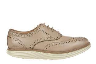 Women's Boston Wing Tip Latte Oxfords 700965-1199N Main