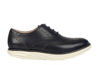 Women's Boston Wing Tip Navy Oxfords 700965-12N Main