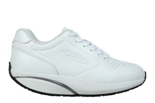 Women's MBT 1997 White Nappa Leather Casual Sneakers