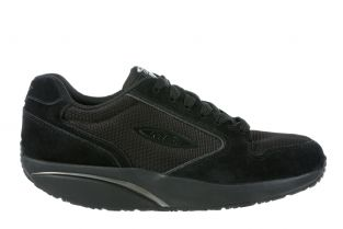 Women's MBT 1997 Classic Black Leather Casual Sneakers