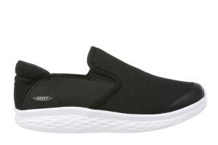 Women's Modena Black/White Walking Slip-Ons