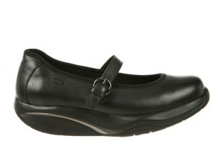 Women's Tunisha Black Nappa Mary Jane Flats 700956-03N Main