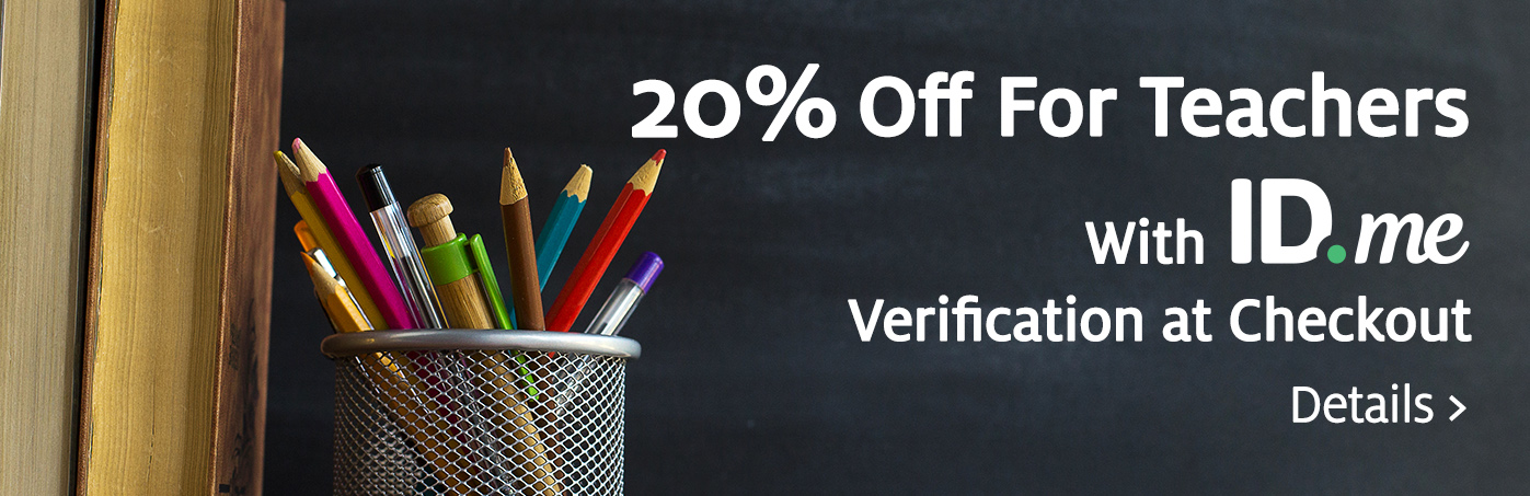 20% off Teachers with ID.me