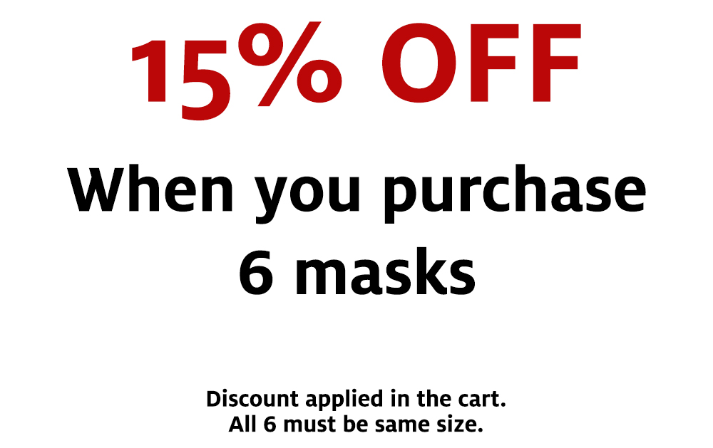 15% Off When You Buy 6 Masks