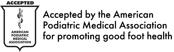 Accepted by the American Podiatric Medical Association for promoting good foot health