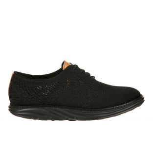 Men's Boston Wing Tip Knit Black Oxfords 700973-03 Small