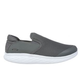 Men's Modena Grey Walking Slip-Ons 702625-20Y Small