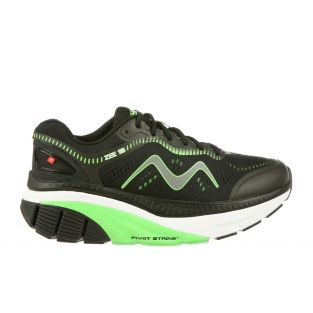 Men's Zee 18 Black/Green Cushioned Running Shoes 702013-1167Y MaiinSmall