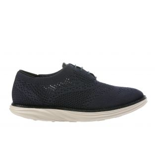 Women's Boston Wing Tip Knit Navy Oxfords 700972-12H Small