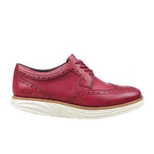 Women's Boston Wing Tip Burgundy Oxfords