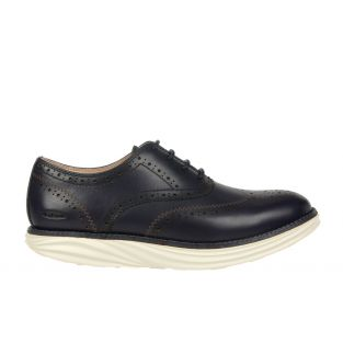 Women's Boston Wing Tip Navy Oxfords 700965-12N Small