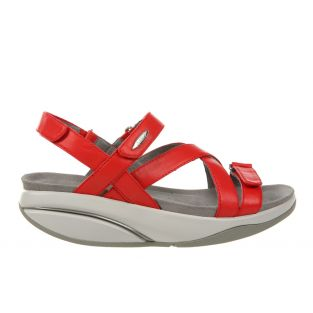 Women's Kiburi Red Dress Sandals 400319-06 Small