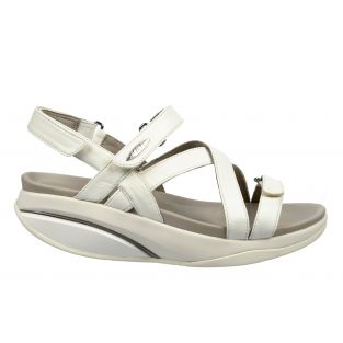 Women's Kiburi White Dress Sandals 400319-16 Small