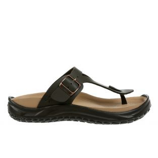 Women's Meru Dark Brown Recovery Sandals 900004-23L Small