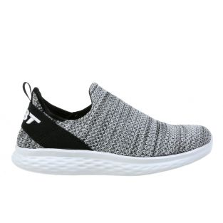 Women's Rome Black/White Walking Slip On